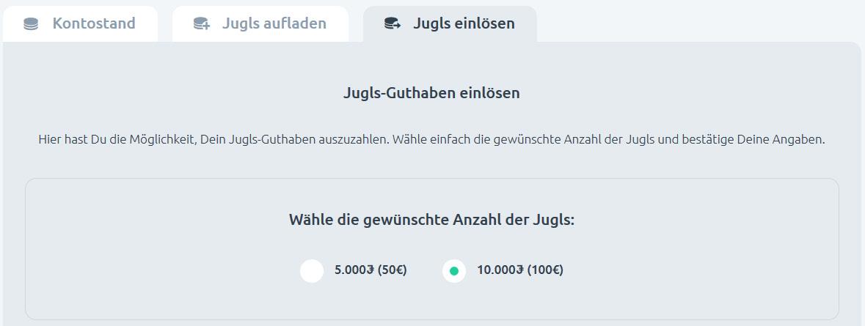 Jugl erste Auszahlung